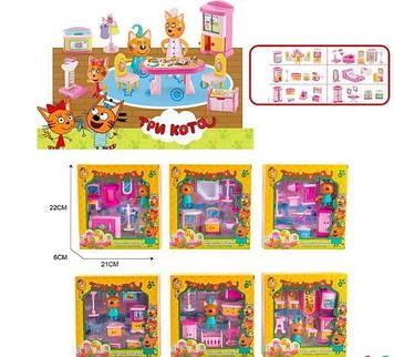 Ігровий набір, фігурка+меблі,у кор-ці,21х22х6см,6 видів №М-8813(48)(96) КІ