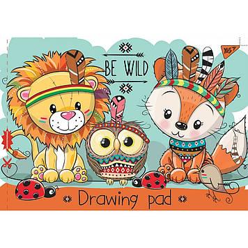 Альбом для малюв. на скобі 12/100 A4 з перфор. (для дівчаток) №130434/YES/(12)