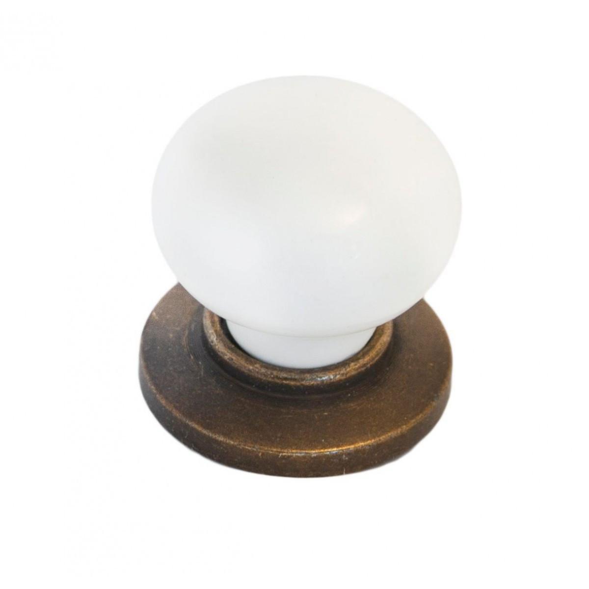 Ручка мебельная Ozkardesler 6073-08/46 керамика KURE PULLU PORSELEN Бронза