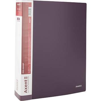 "Папка ""Axent"" №1208-11-А A4 на 4кільця d-35мм (сливова)(1)(10)"