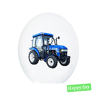 """Гелієва куля 12"""" (30 см) Трактор на білому (1шт.)"""