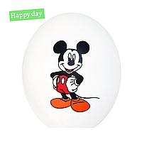 "Гелиевый шар 12"" (30 см) Микки Маус на белом (1шт.)"