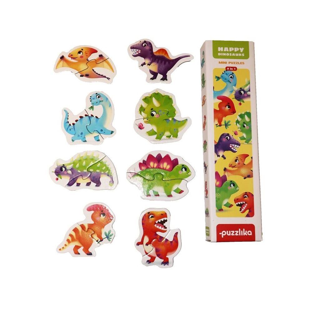 Пазли Puzzlika 8в1 Динозаври №15252