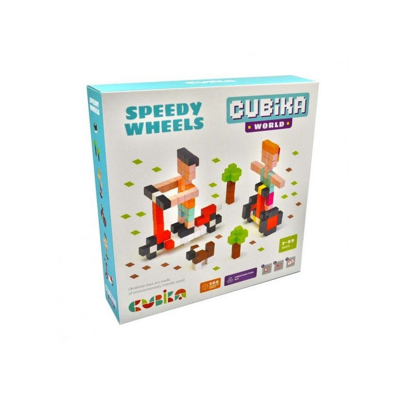 """Конструктор дерев.Cubika World """"Швидкі колеса"""" №15290"""