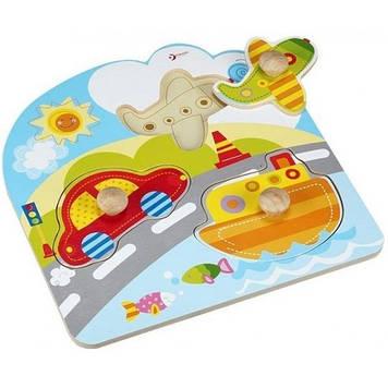 Іграшка дерев'яна яна вкладка Транпорт для малюків №3542 Classic World