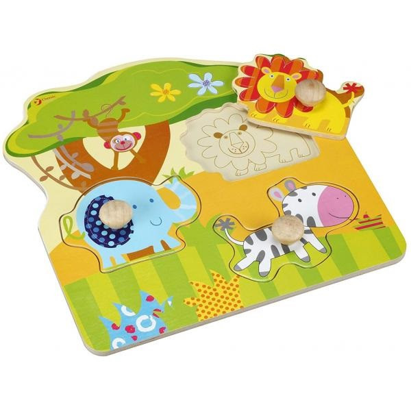 Іграшка дерев'яна  вкладка Тварини для малюків №3543 Classic World