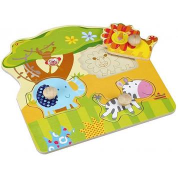 Іграшка дерев'яна яна вкладка Тварини для малюків №3543 Classic World