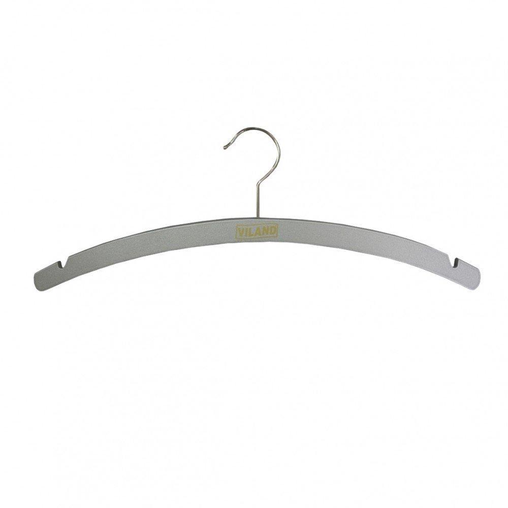Плечики для одежды Viland полукруглая 40.6 х 0.8 см серебряная