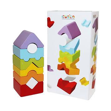 Іграшка дерев.Пірамідка Cubika №LD-12/15009
