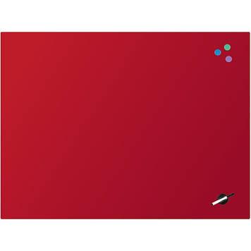 "Дошка ""Axent"" №9616-06-A магнітно-маркерна,скляна,90х120см,червона"