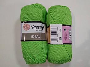 Пряжа Идеал  (Ideal) Yarn Art цвет 226 зеленый