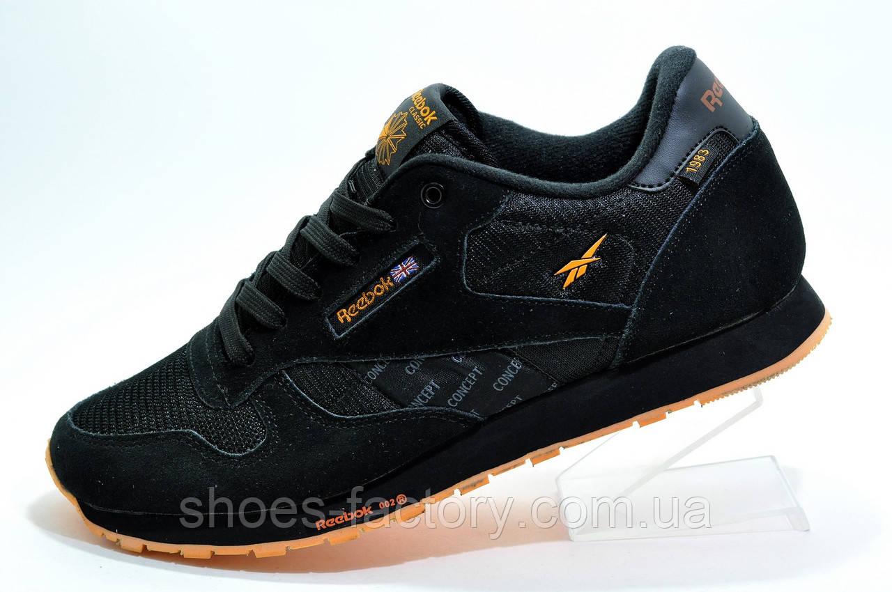 Кроссовки мужские в стиле Reebok Classic Leather 'Concept Sample' Black\Orange