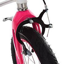 Велосипед дитячий PROF1 14 Д. LMG14204 біло-рожевий, фото 2