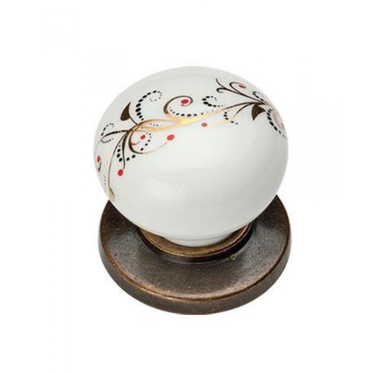 Ручка мебельная Ozkardesler 6073-08/41 керамика KURE PULLU PORSELEN Бронза Лоза