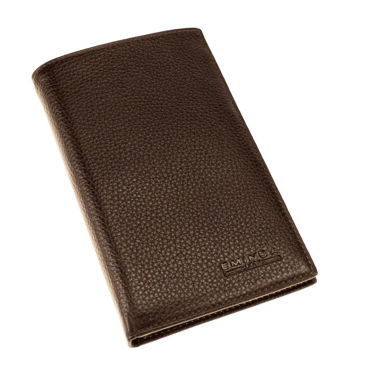 Мужской бумажник кожаный коричневый Eminsa 1083-12-3