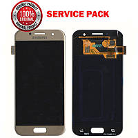 Дисплей + сенсор Samsung A320 2017 Золотистый Оригинал 100% SERVICE PACK GH97-19732B