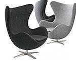 Крісло Егг (Egg), дизайнерське, екожа, метал, колір коричневий, фото 2