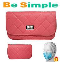 Розовая женская сумка клатч Chanel / Дамская сумочка + Маска одноразовая (10шт.) в Подарок