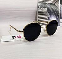 Солнцезащитные круглые очки Dior реплика Черные, фото 1