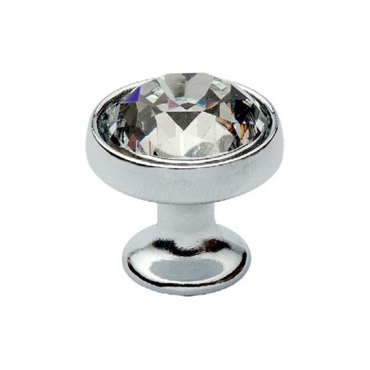 Ручка мебельная Ozkardesler TASLI SOLO DUGME 6099-06 Хром с камнями