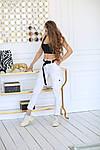 Женские брюки, коттон, р-р 42-44; 44-46 (белый), фото 2