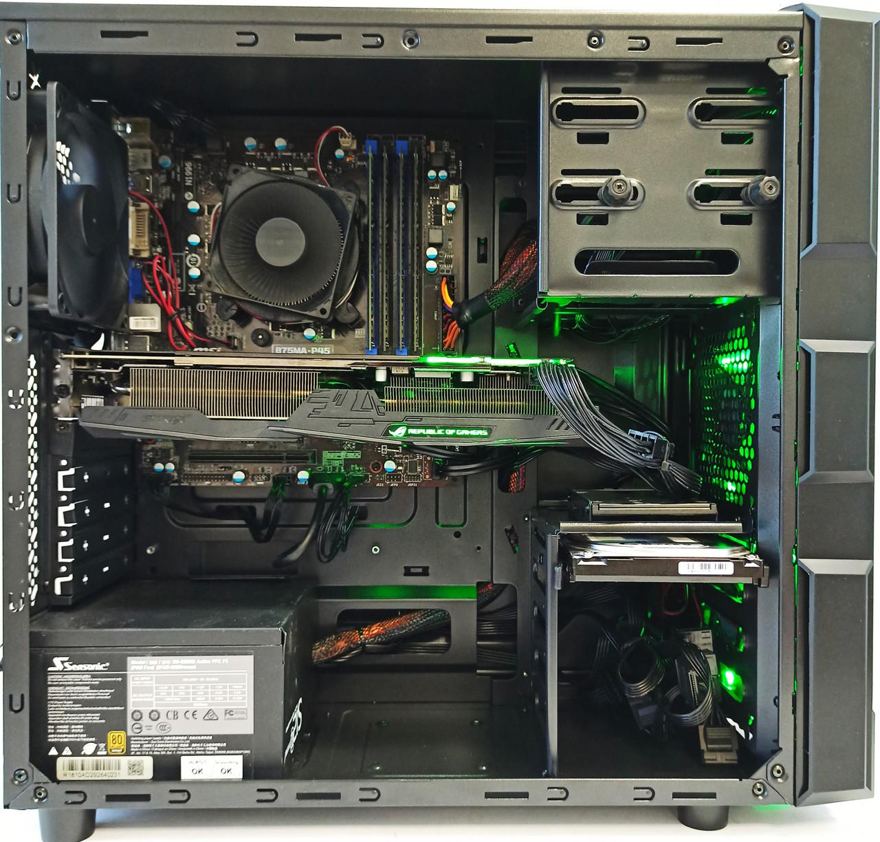 Игровой компьютер intel Core i7 3770 , Radeon RX 580 8GB , 16 GB DDR3 , SSD + HDD