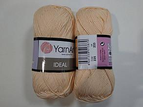 Пряжа Идеал  (Ideal) Yarn Art цвет 225 персиковый