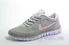 Женские кроссовки в стиле Nike Free Run 3.0, Gray\White\Pink, фото 3