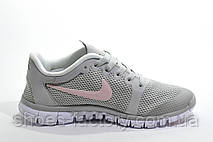 Женские кроссовки в стиле Nike Free Run 3.0, Gray\White\Pink, фото 2