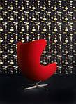 Кресло Эгг (Egg), кожа, цвет красный, фото 4