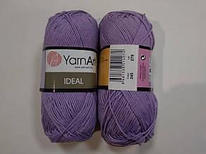 Пряжа Идеал  (Ideal) Yarn Art цвет 245 сиреневый