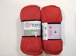 Пряжа Идеал  (Ideal) Yarn Art цвет 237 красный