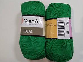Пряжа Идеал  (Ideal) Yarn Art цвет 227 зеленый