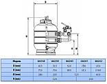 Песочный фильтр Astral Ivory D750 мм, 21 м³/ч, боковое подключение, фото 3