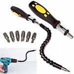 Отвертка с гибким магнитным удлинителем для отвертки и дрели SnakeBit с 6 битами, фото 2
