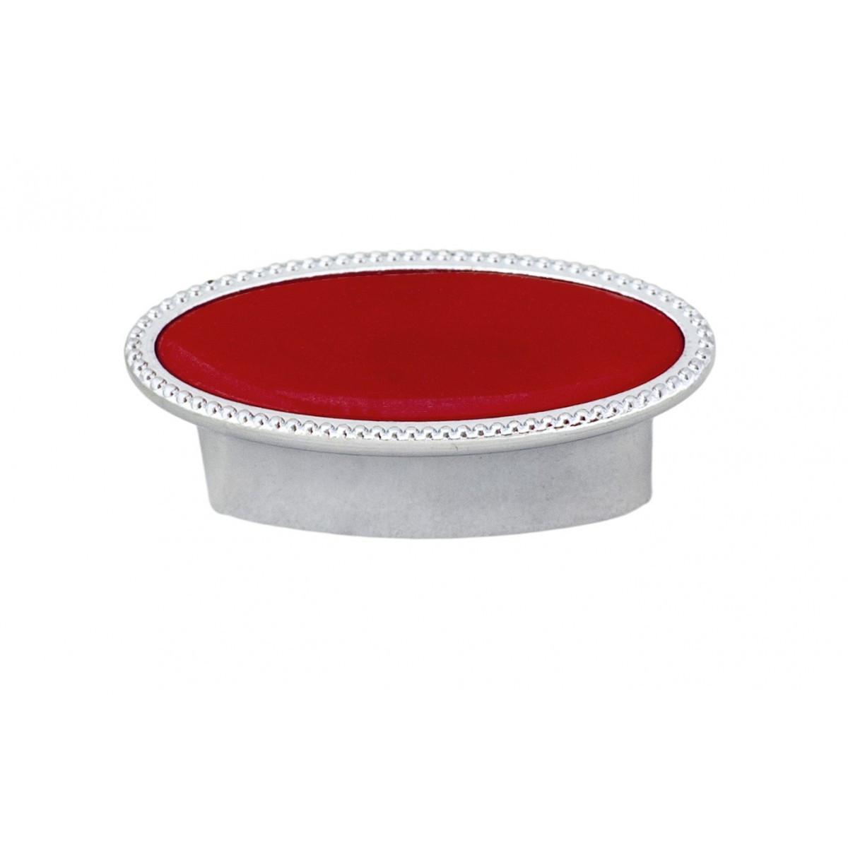 Ручка меблева Ozkardesler 32мм SELVI DUGME 6085-06/038 Хром-Червона