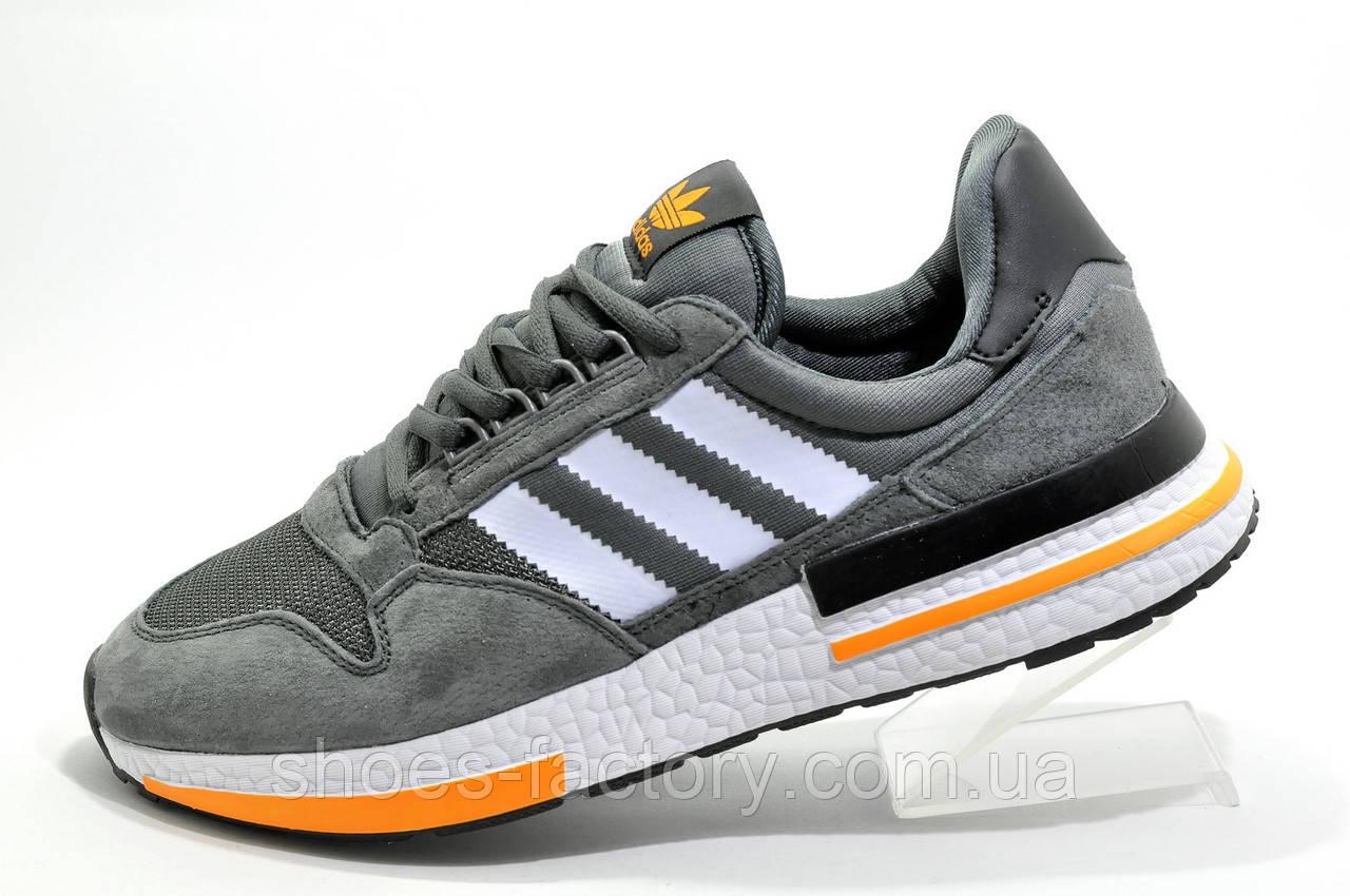 Мужские кроссовки в стиле Adidas ZX 500 Boost, Gray\Orange
