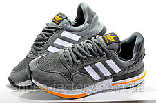 Мужские кроссовки в стиле Adidas ZX 500 Boost, Gray\Orange, фото 3