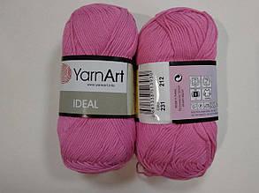 Пряжа Идеал  (Ideal) Yarn Art цвет 231 розовый