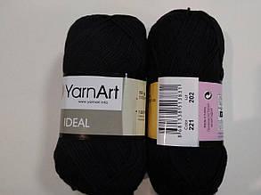 Пряжа Идеал  (Ideal) Yarn Art цвет 221 черный