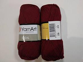 Пряжа Идеал  (Ideal) Yarn Art цвет 238 бордовый