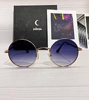 Солнцезащитные круглые очки унисекс с фиолетовыми линзами, фото 1