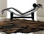 Дизайнерский шезлонг Лекор, нержавеющая сталь, эко кожа, цвет черный, фото 6