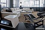 Дизайнерский шезлонг Лекор, нержавеющая сталь, эко кожа, цвет черный, фото 7