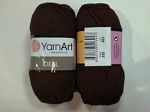 Пряжа Идеал  (Ideal) Yarn Art цвет 232 коричневый