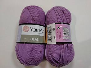 Пряжа Идеал  (Ideal) Yarn Art цвет 246 сиреневый