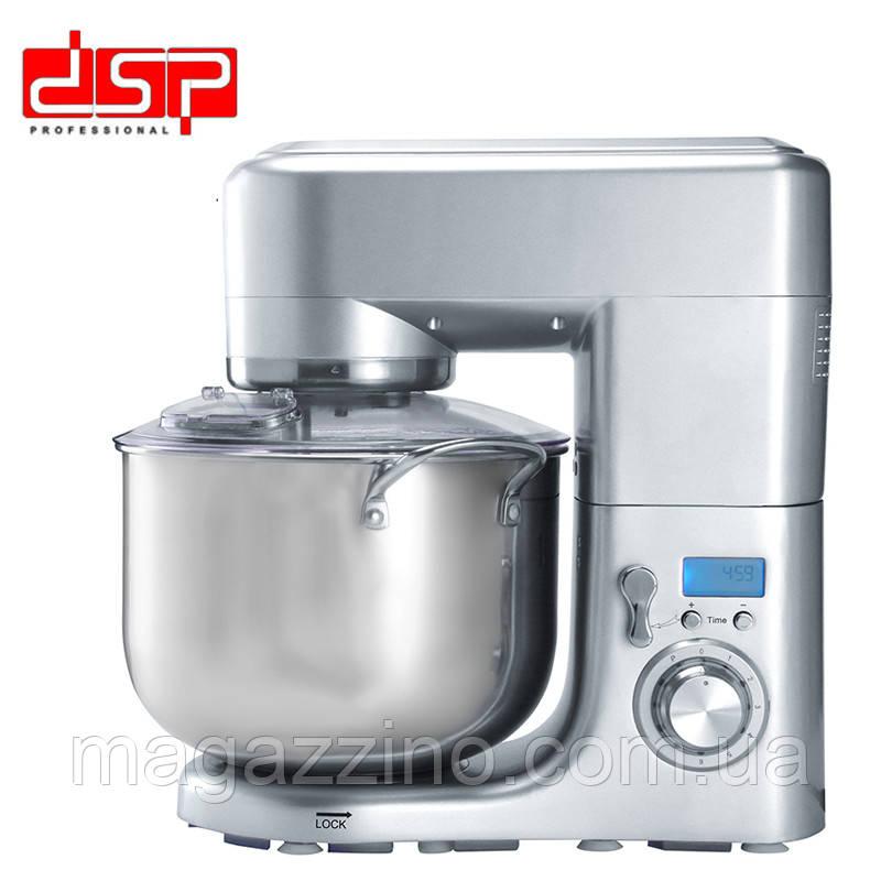 Тестомес, кухонный комбайн, миксер с чашей DSP KM-3032 3в1, 1200 Вт.