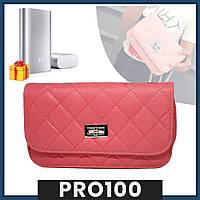 Розовая женская сумка клатч Chanel / Дамская сумочка + PowerBank 10400 mah в Подарок