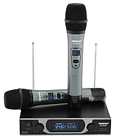 Радиосистема Shure SH-999R, база, 2 микрофона + Кейс