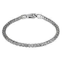 Серебряный мужской браслет (размер 21) CTW360y